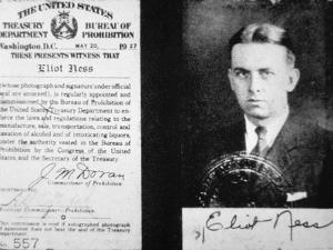 Prohibition Agent Id Card of Eliot Ness (1903-57) Dated 20th May, 1927 (Litho) by American