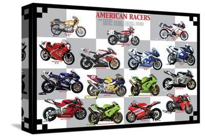 American Racers--Stretched Canvas Print