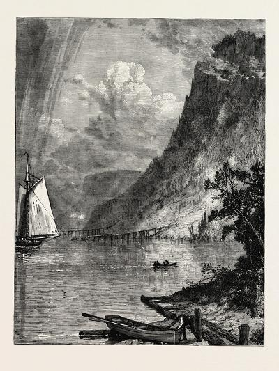 American River Scenery: on the Hudson, USA, 1870S--Giclee Print