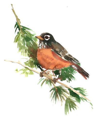 American Robin-Suren Nersisyan-Art Print
