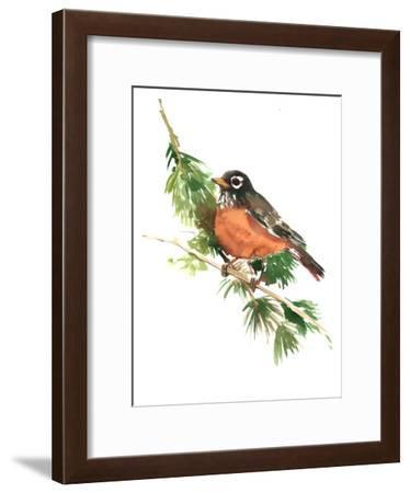American Robin-Suren Nersisyan-Framed Art Print