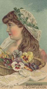 Advertisement for Viola Cream, C.1890 by American School