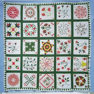 Album Quilt with Season Flowers, 1844 by American School