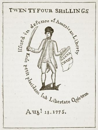 American Bill of Credit, 1775, Illustration from 'Cassell's Illustrated History of England'