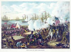 Battle of New Orleans, pub. Kurz & Allison, c.1890 by American School
