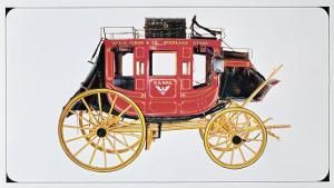 Concord Stagecoach Used by Wells Fargo and Co. Made in Concord, New Hampshire by American School
