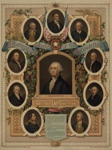 Distinguished masons of the revolution, 1876 by American School