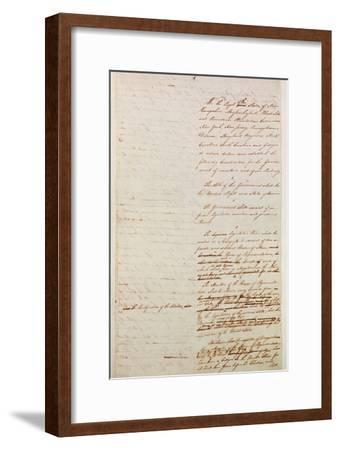 First Draft of the Constitution of the United States, 1787