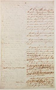 First Draft of the Constitution of the United States, 1787 by American School