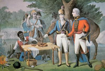 General Francis Marion of South Carolina Invites a British Officer to Dinner by American School