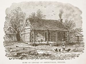 Home of Lincoln at Gentryville, Indiana, from a Book Pub. 1896 by American School
