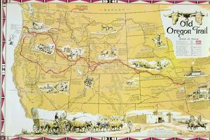 Map of the Old Oregon Trail by American School