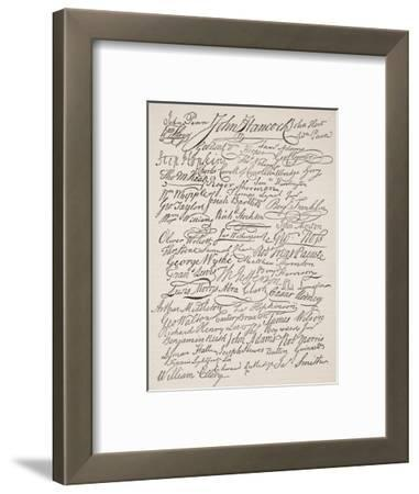 Signatures to the Declaration of Independence, 1776