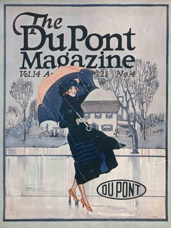 Something New in Sportswear, Front Cover of the 'Dupont Magazine', April 1921