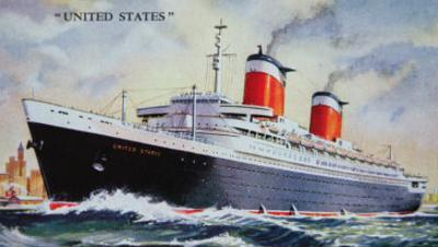Ss United States Maiden Voyage in 1952 by American School