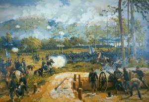 The Battle of Kenesaw Mountain, 27th June 1864 by American School