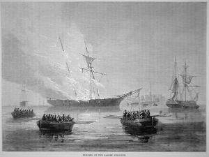 The Burning of the British Customs Schooner 'Gaspee' by American Patriots on 9th June 1772 by American School