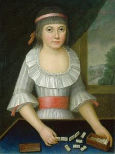 The Domino Girl, c.1790 by American School