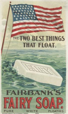 The Two Best Things That Float', Advertisement for Fairbank's Floating Fairy Soap, 1898 by American School