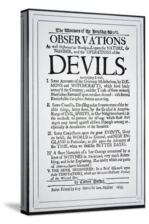 Title-Page of a Witch Hunt Pamphlet by Cotton Mather Printed in Boston, 1693
