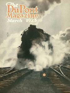 Train, Front Cover of the 'Dupont Magazine', March 1923 by American School