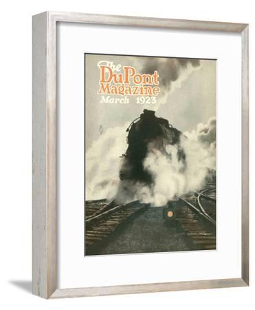 Train, Front Cover of the 'Dupont Magazine', March 1923