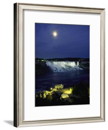 American Side of Niagara Falls, Seen at Night from Niagara Oaks Garden-Richard Nowitz-Framed Photographic Print