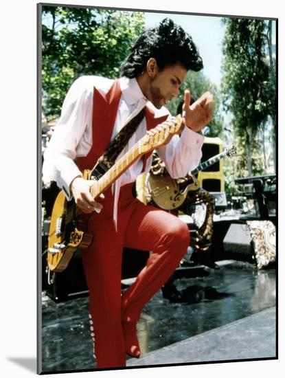 American Singer Prince (Prince Rogers Nelson) in the 80'S--Mounted Photo