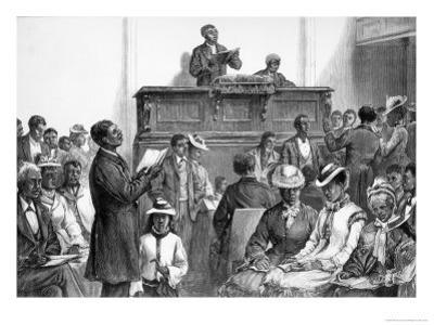 American Sketches: A Negro Congregation at Washington, The Illustrated London News, 1876