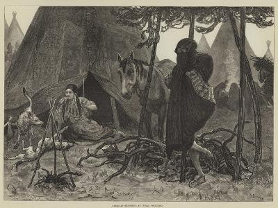 American Sketches, an Indian Courtship-Valentine Walter Lewis Bromley-Giclee Print