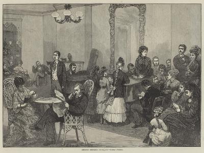 American Sketches, Hotel Life, Sunday Evening-Felix Regamey-Giclee Print