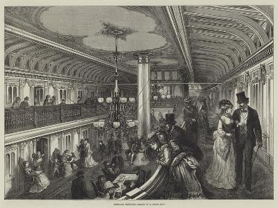American Sketches, Saloon of a Steam-Boat--Giclee Print