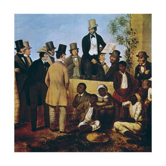 American Slave Market, 1852--Art Print