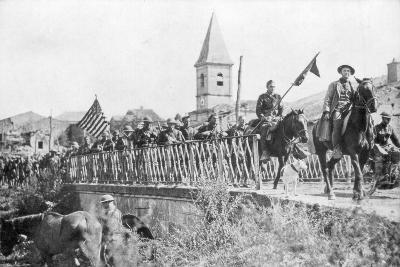 American Soldiers Entering the Village of Nonsard, Near Saint-Mihiel, France, 12-15 September 1918--Giclee Print