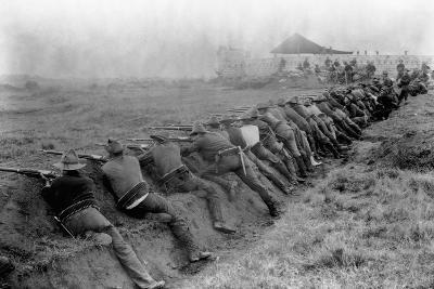 American Soldiers Practicing Shooting During Spanish-American War--Photographic Print