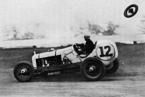 'American Speedway Racing - Jack Ericson, turning on three wheels, 1937-Unknown-Photographic Print
