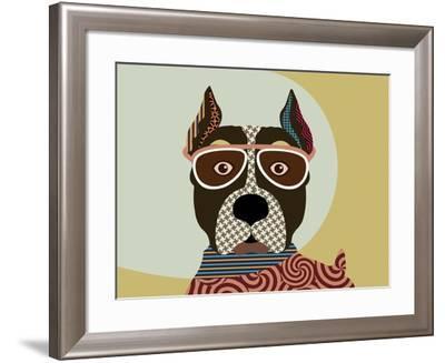American Staffordshire Terrier-Adefioye Lanre-Framed Giclee Print