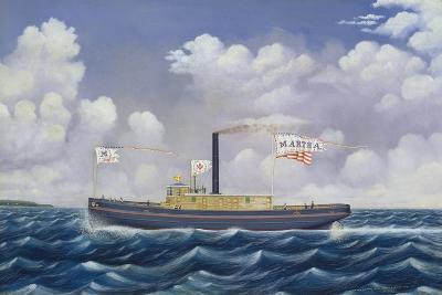 American Steam Tug Martha-James Bard-Giclee Print