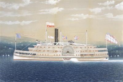 American Steamboat Kaaterskill-James Bard-Giclee Print