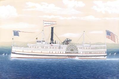 American Steamboat Saugerties-James Bard-Giclee Print