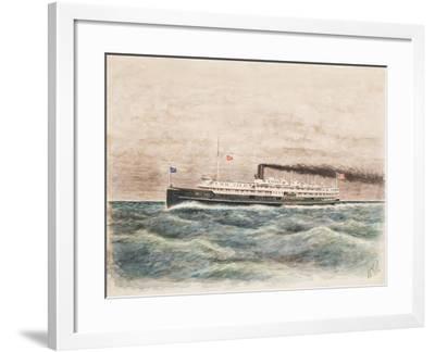 American Steamship Eastern States, Built 1902-William Gardham Larmour-Framed Giclee Print