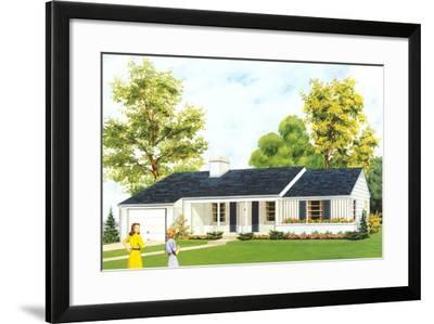 American Suburban Home--Framed Art Print