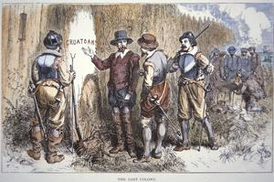 The Lost Colony of Roanoke (Colour Litho) by American
