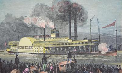 The 'Robert E. Lee', C.1870 (Coloured Engraving)