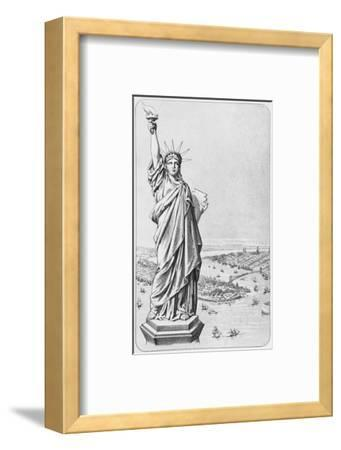 The Statue of Liberty, New York, C.1885 (Engraving) (B/W Photo)