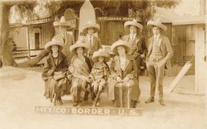 American Tourists in Sombreros, Tijuana, Mexico