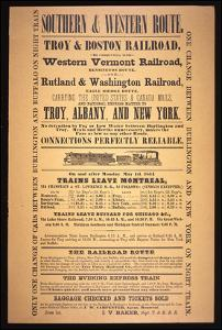 Train Poster for the Southern and Western Route, 1854 (Litho) by American