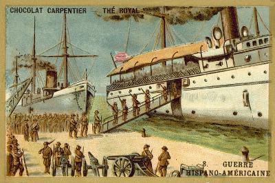 American Troops Boarding a Ship, Spanish-American War, 1898--Giclee Print
