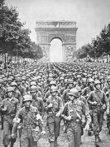American Troops Parade Through the City, August 1944