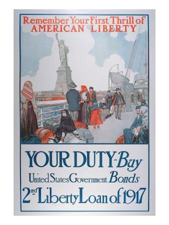 American War Bonds Poster, 1917--Giclee Print